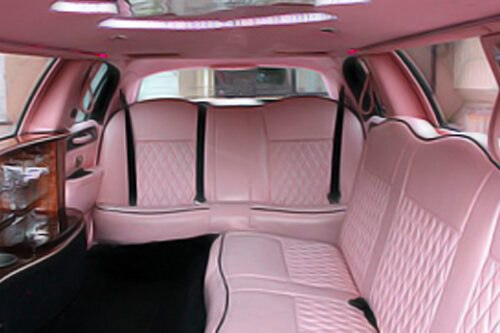 A pink limo for a grand day!